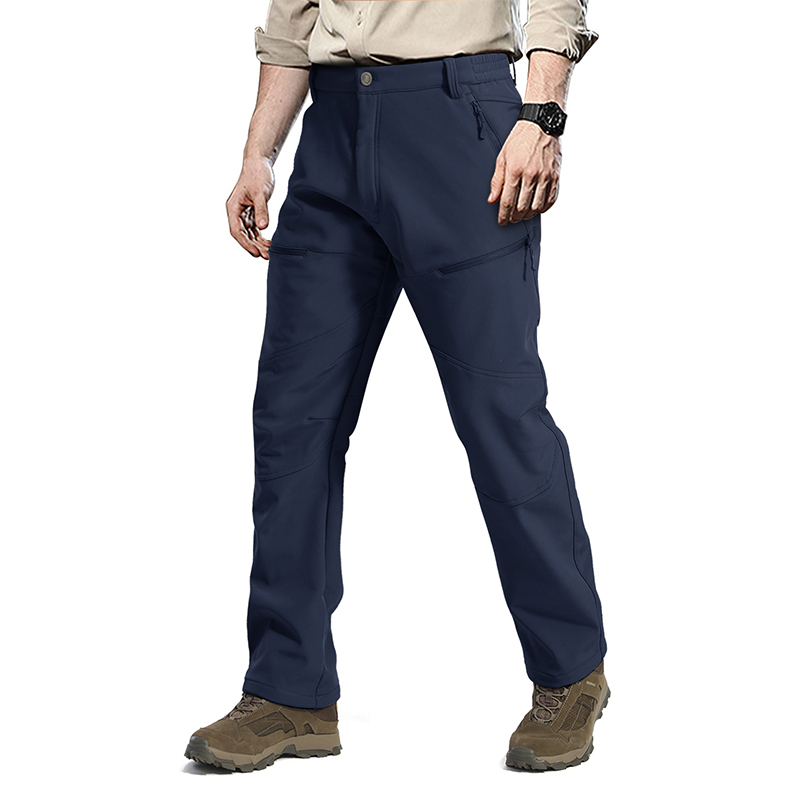 OEM Wholesale Camping Fishing Fleece Outdoor Softshell  Pants Trousers With Zipper Pocket,Trekking Pants , Garment Manufactuer