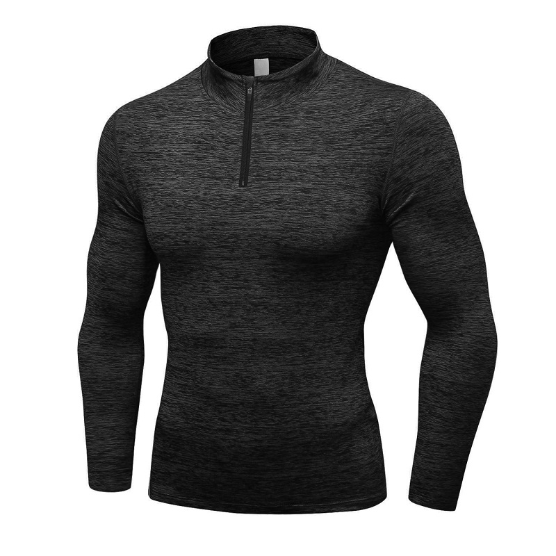 Best Quality Long Sleeve Stripe Men Casual Workout Tops Quantity Polyester/Spandex Oem Anti China Technics Style