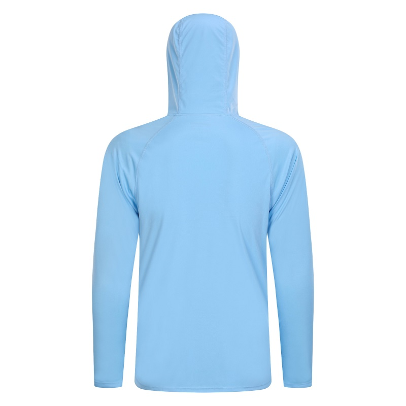 Customise Men\'s UPF 50+ Sun Protection Hoodie T-Shirt Long Sleeve Climbing Running Athletic Shirts